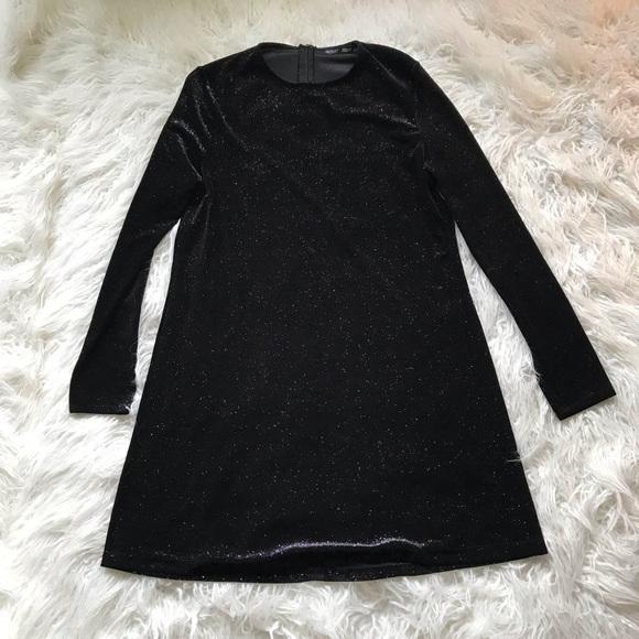 f476c53683 Zara Semi Sheer Sparkly Dress Evening Dress